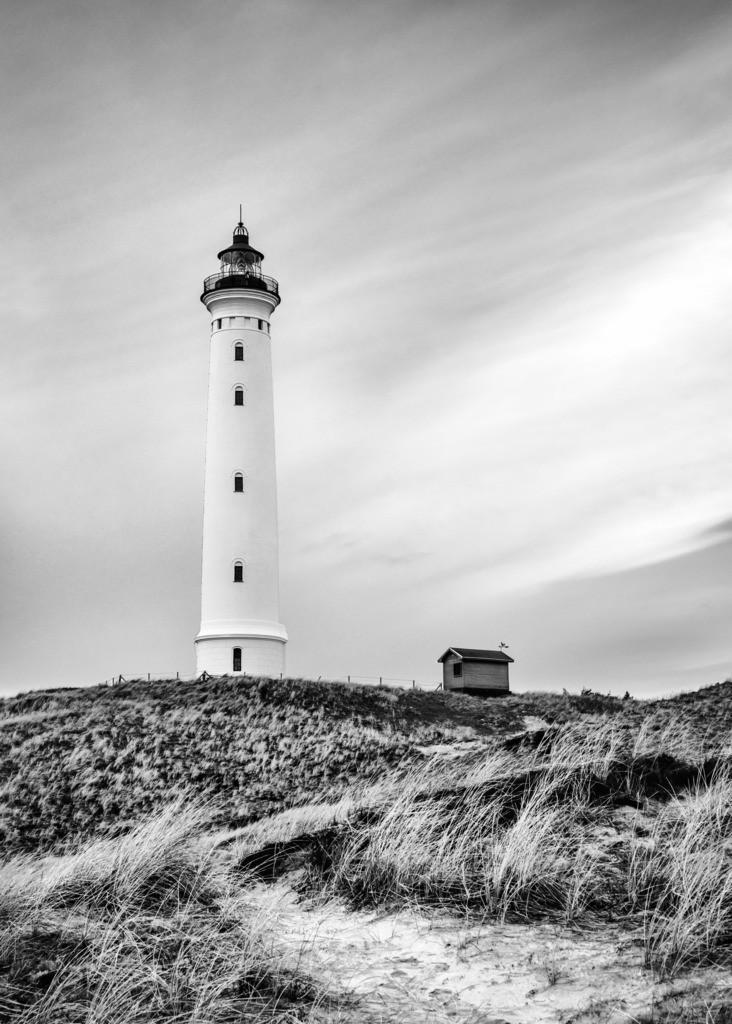 Lyngvig Fyr III BW | Der Leuchtturm in Nørre Lyngvig