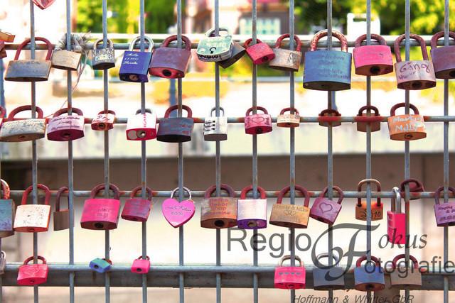 Für Immer! | Liebesschlösser an einer Brücke in Bad Salzdetfurth