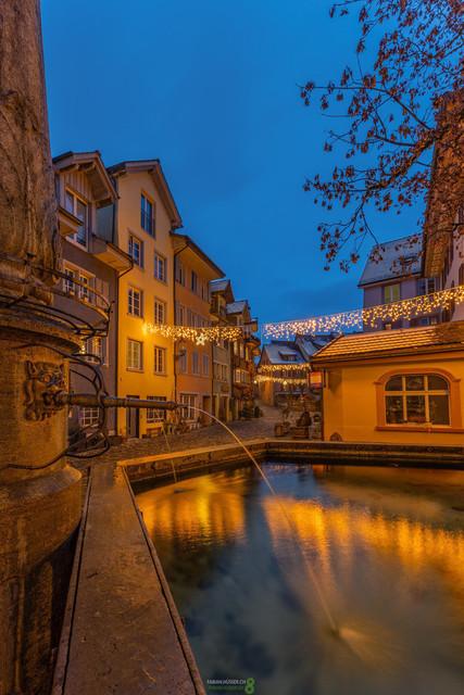 Advent   Aventstimmung im schmucken historischen Städtchen Bremgarten im Kanton Aargau, Schweiz
