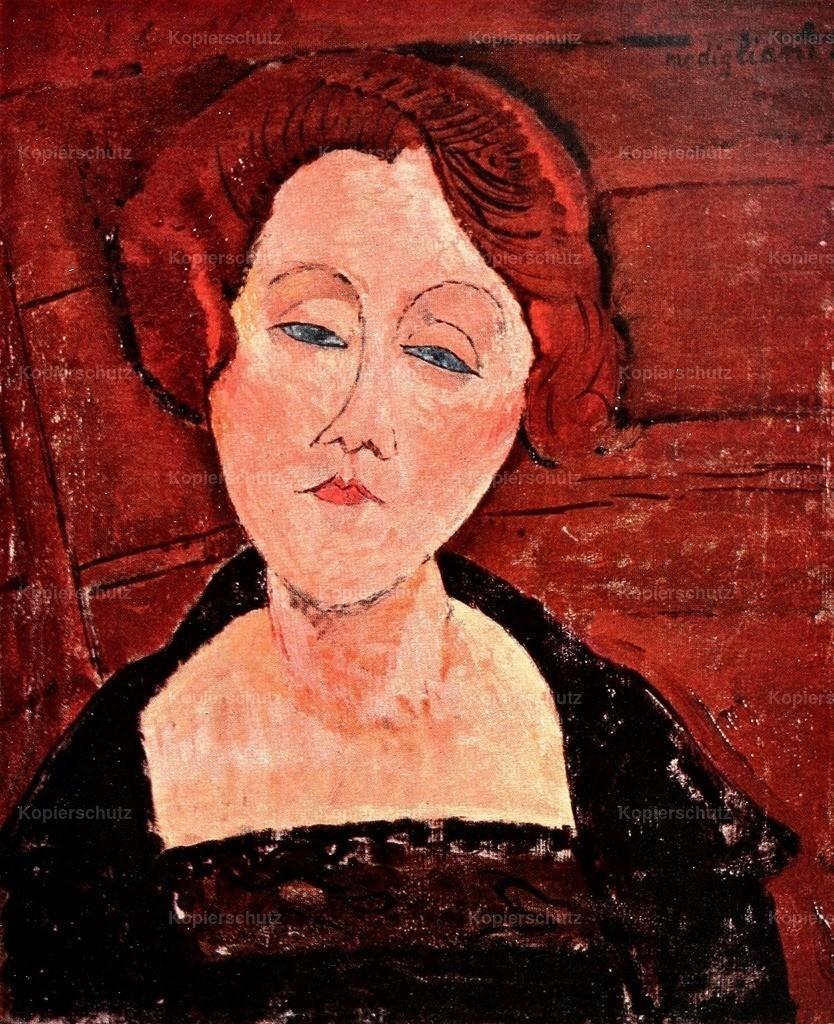 Modigliani_ Amedeo (1884-1920) - Girl with Blue Eyes 1914-15