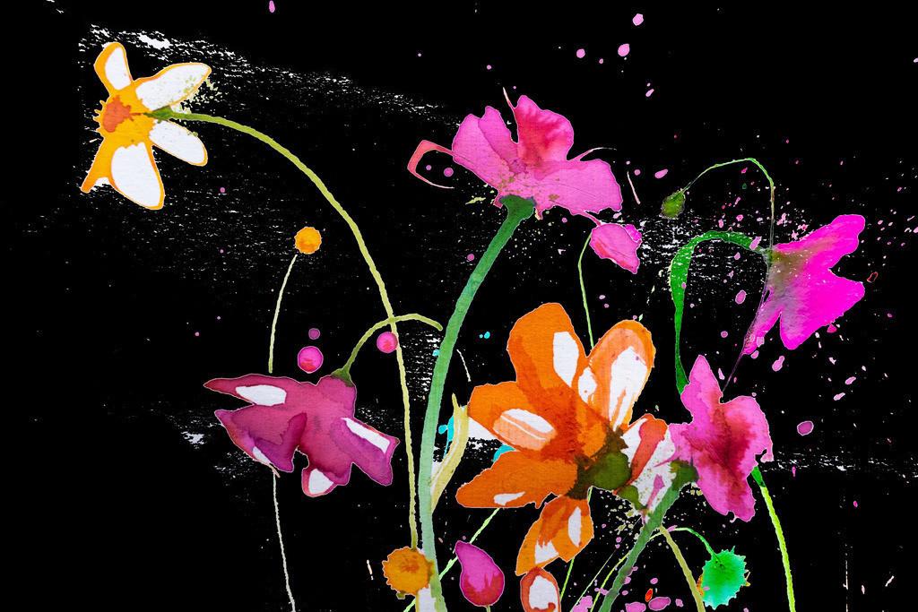 Blumen-Motiv-5   Projektionsmotive der Kunstevents