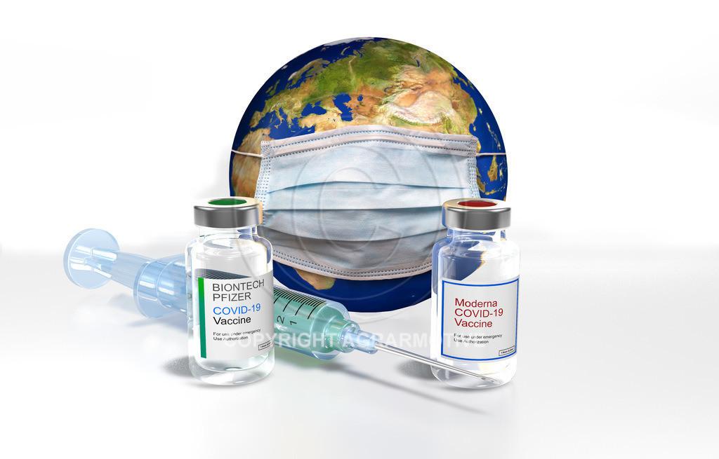 Corona_zweiter_Impfstoff_Weltkugel | In Deutschland ist ein zweiter Impstoff verfügbar. Neben dem bisherigen Impfstoff von Biontech Pfizer gibt es noch auch einen vom Hersteller Moderna