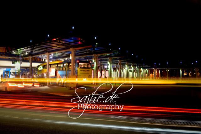 Lightpainting    Chemnitzer Omnibusbahnhof