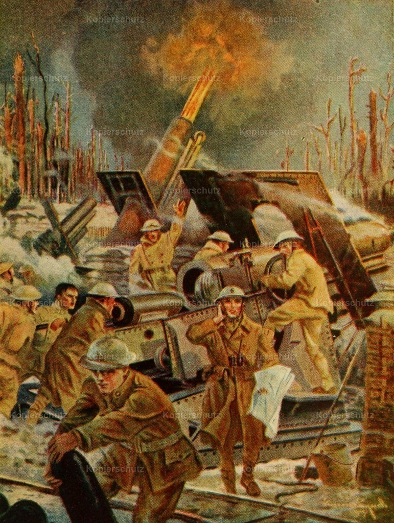 Lynch_ V. (1862-1935) - Story of Great War 1919 - Cannoneers hurled gas on German trenches
