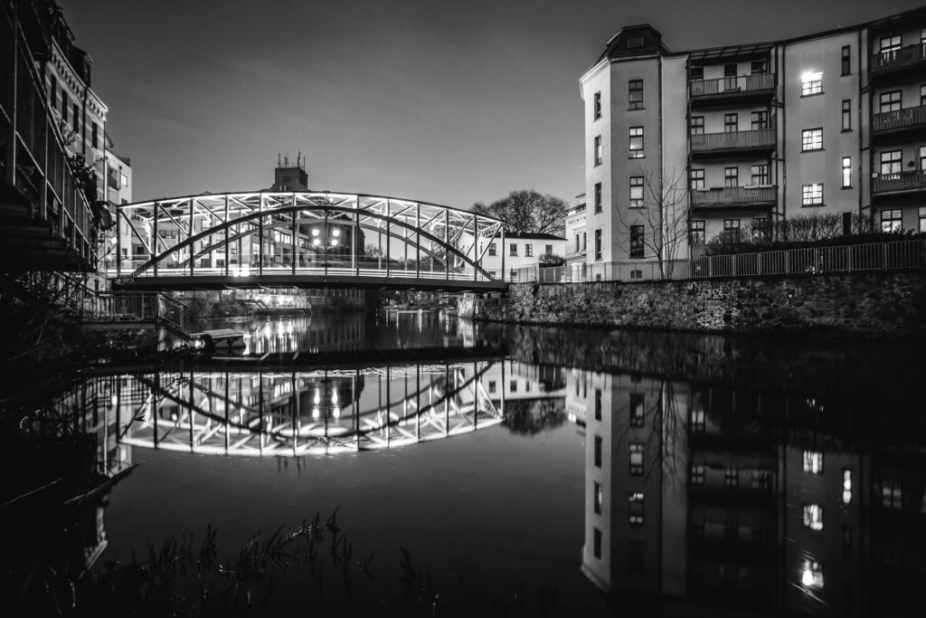 Könneritzbrücke schwarz weiß 2019 | Die Könneritzbrücke im Abendlicht. Ein fantastisches Motiv.