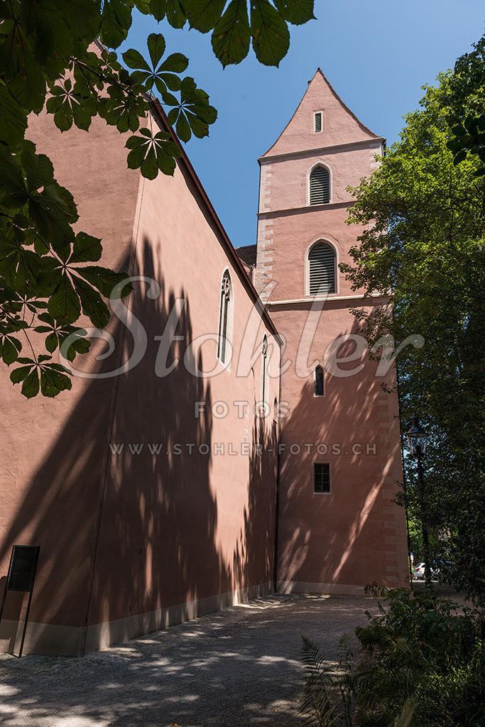 St. Alban Kirche, Basel (BS) | St. Alban Kirche Westansicht im St. Alban Tal in Basel, Kanton Basel-Stadt.