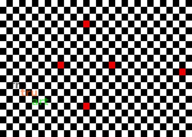 Fünf Rote Quadrate | Grafik