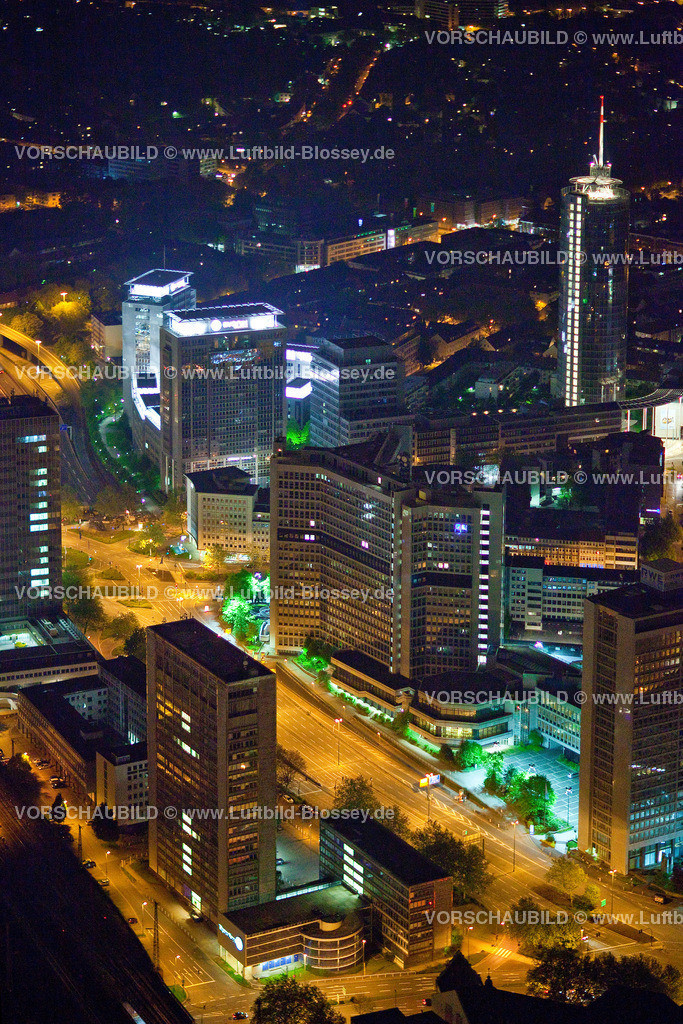ES10052722 | City Essen RWE-Hochhaus bei Nacht RWE,  Essen, Ruhrgebiet, Nordrhein-Westfalen, Germany, Europa, Foto: hans@blossey.eu, 14.05.2010