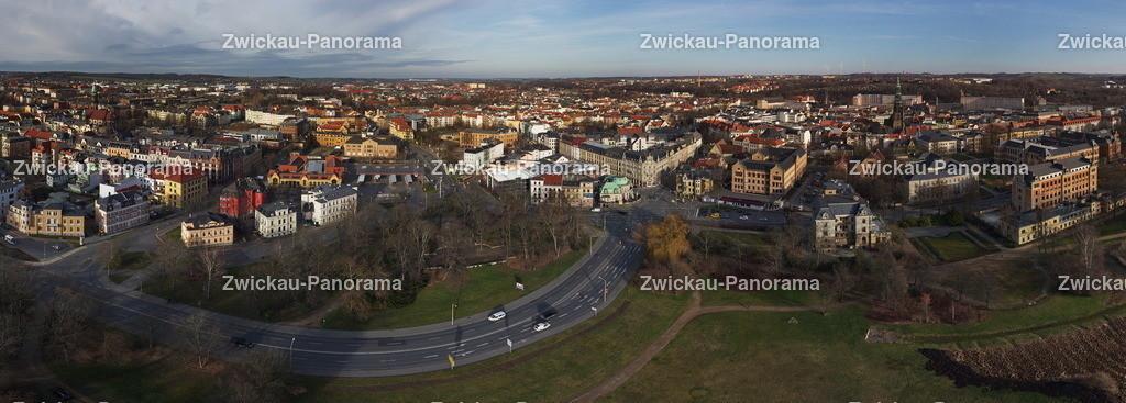 Zwickau Blick auf Nordvorstadt | Zwickau Blick auf Nordvorstadt
