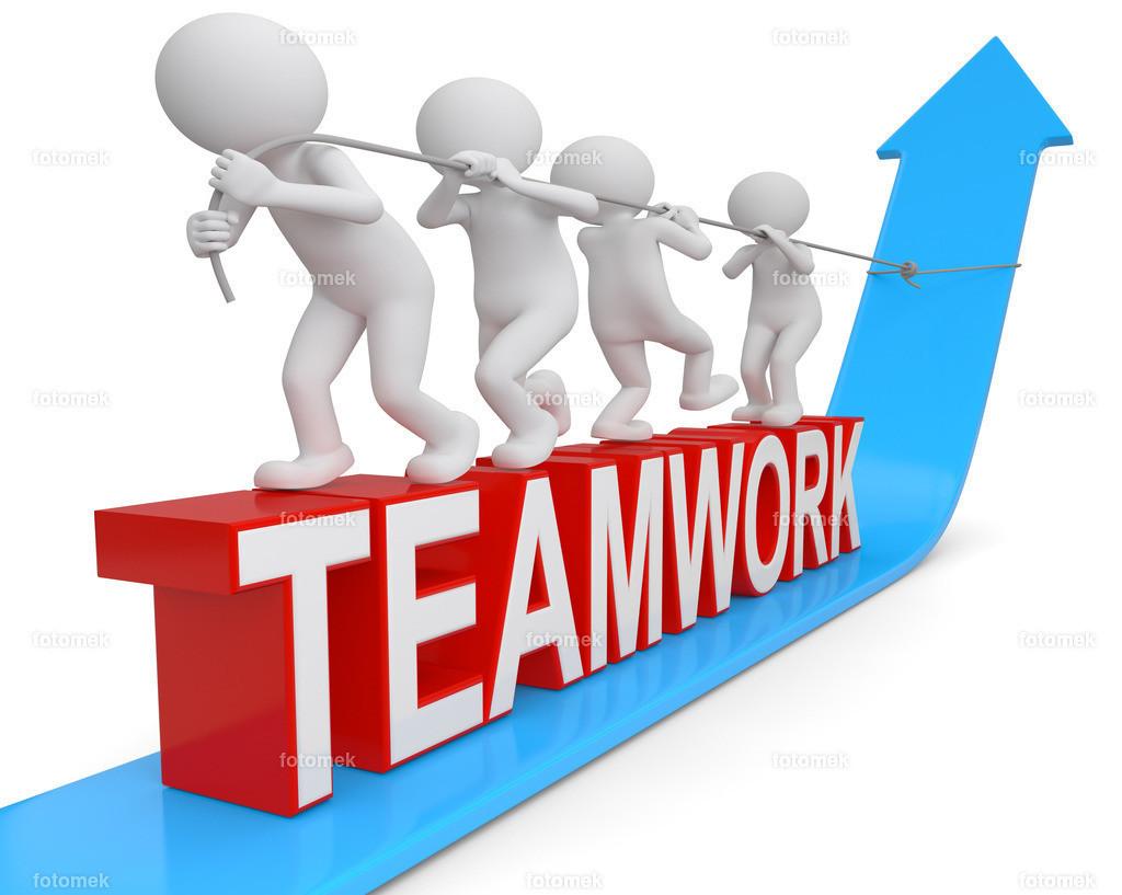 Teamwork gemeinsam am Strang ziehen