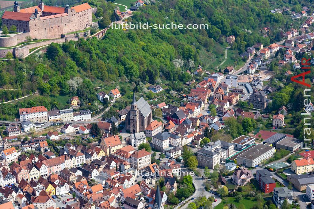 kulmbach-18-74   aktuelles Luftbild von  Kulmbach - Luftaufnahme wurde 2018 von https://frankenair.de mittels Flugzeug (keine Drohne) erstellt.