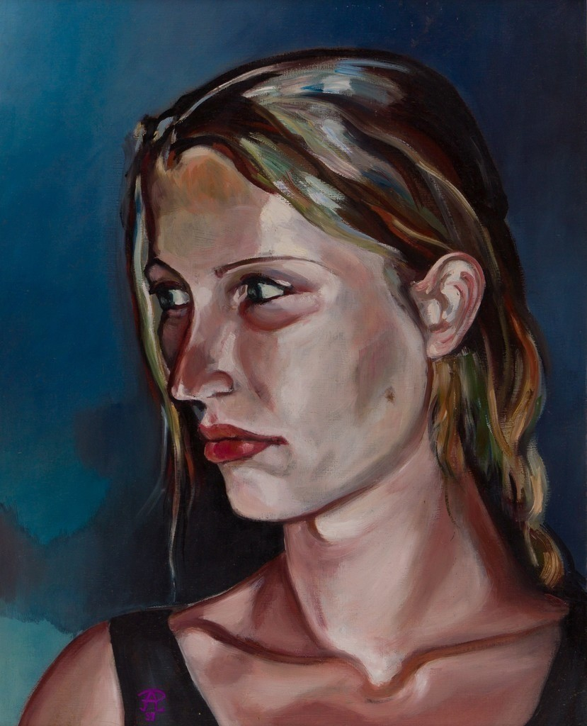 Portrait Antje | Originalformat: 60x48cm  -  Produktionsjahr: 1999