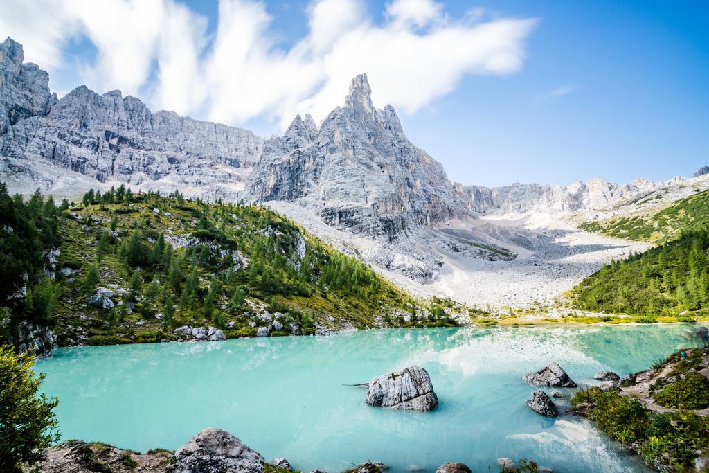 Lago di Sorapis | Der türkise Lago di Sorapis in den Dolomiten in Südtirol / Italien
