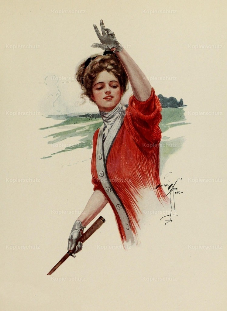 Fisher_ Harrison (1875-1934) - Fair Americans 1911 - Lady golfer