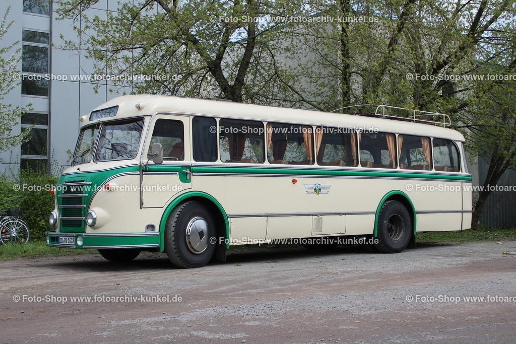IFA H 6 B/L Linienbus (Kraftverkehr Dresden), 1956 | IFA H 6 B/L Linienbus, Fabre: Creme/Grün, Baujahr 1956 (Neuaufbau 1996/97), Omnibus mit 34+2 Sitzen, Kraftverkehr Dresden, Hersteller: VEB IFA-Kraftfahrzeugwerk
