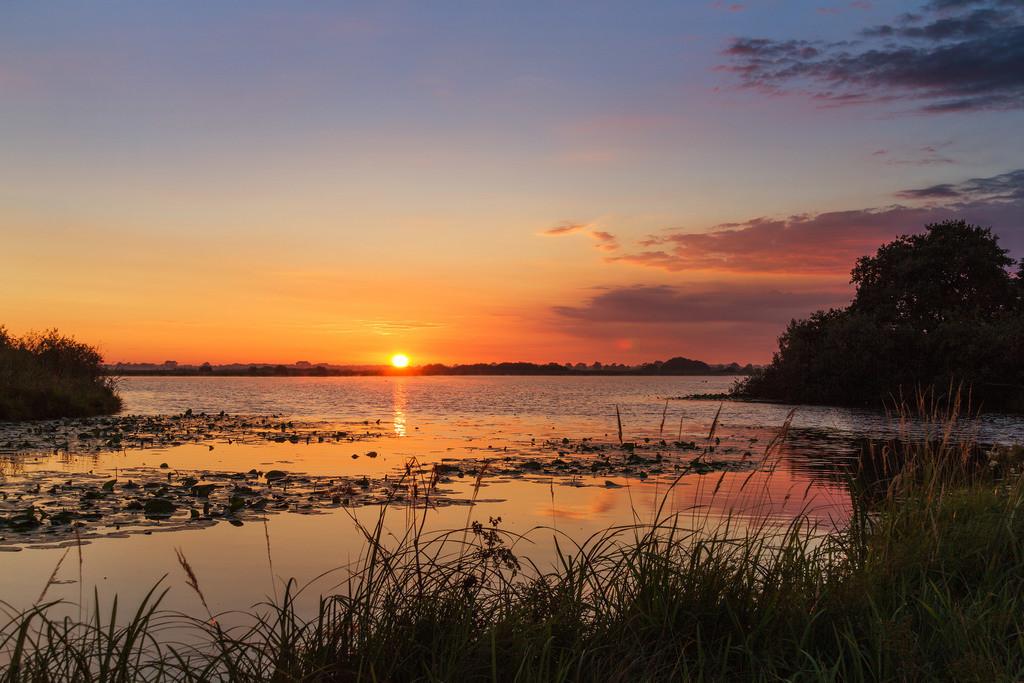 Sonnenaufgang am Breiten Wasser | Toller Sonnenaufgang am Breiten Wasser, in den Hammewiesen.
