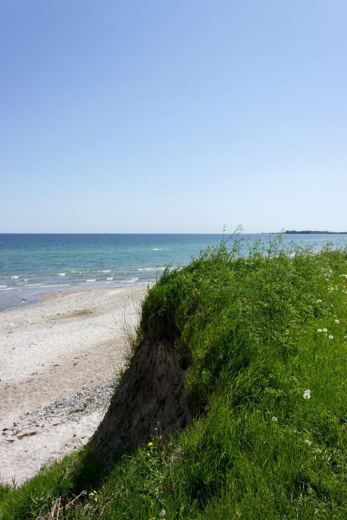 Strand Pottloch in Kronsgaard | Blick von der Steilküste auf den Strand Pottloch in Kronsgaard
