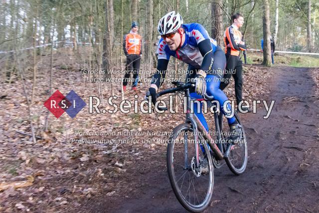 Radsport, Stevens Cyclocross Cup 2019, 10. Lauf (RSG Nordheide), Rennen 9 (Elite Herren + U23, Masters 2 / Elite Ü40 und Junioren U19), Buchholz i.d.N., 19.01.2020   Steffen Richter (SG Athletico Büdelsdorf, #148, Masters 2)