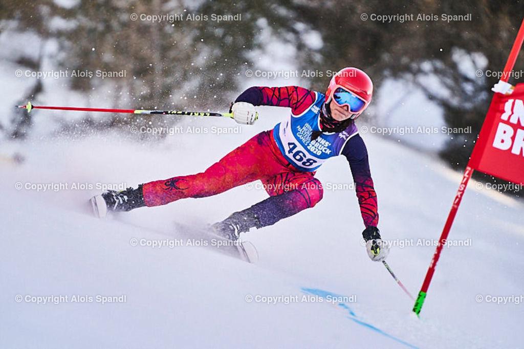 ALS6020_WWMG_GS-II_C   (C) FotoLois.com, Alois Spandl, WinterWorldMastersGames 2020 Innsbruck, Giant Slalom-II Gruppe C Damen, Patscherkofel Olympiaabfahrt, Mi 15. Jänner 2020.