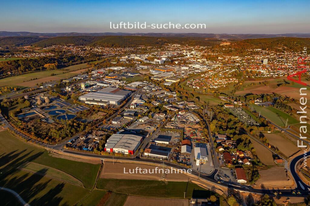 gewerbegebiet-kulmbach-18-367 | aktuelles Luftbild von Gewerbegebiet Kulmbach - Luftaufnahme wurde 2018 von https://frankenair.de mittels Flugzeug (keine Drohne) erstellt.