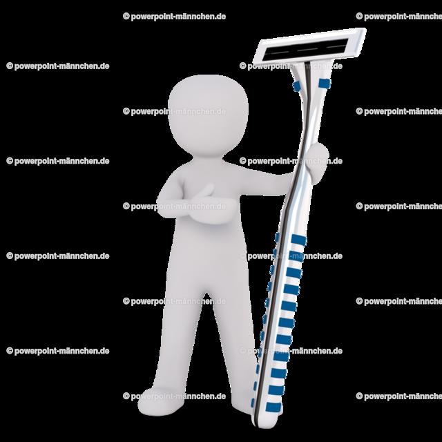 man using a shaver | Quelle: https://3dman.eu   Jetzt 250 Bilder kostenlos sichern