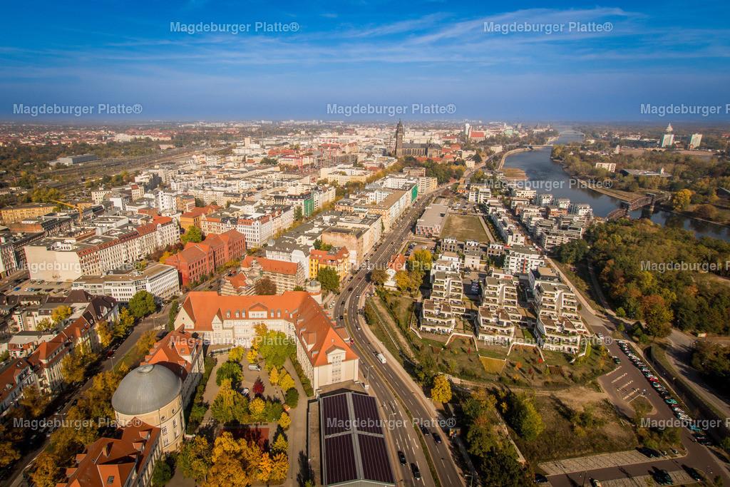 Magdeburg -5622 | Luftbilder aus der Vogelperspektive von MAGDEBURG ... mit Drohne oder von oben fotografiert für die Bilddatenbank der Luftbildfotografie von Sachsen - Anhalt.