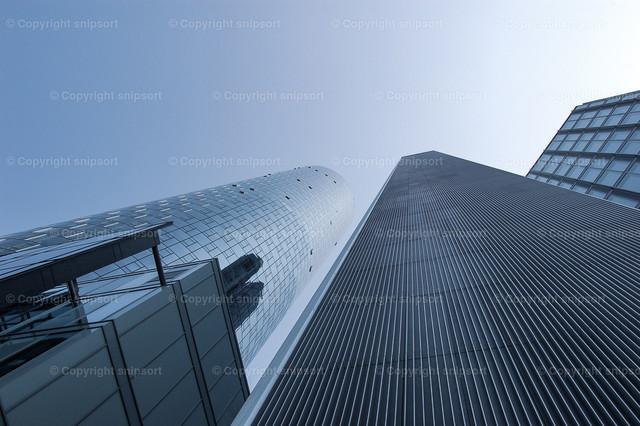 Wolkenkratzer | In den Himmel emporragende Glasfassaden von Wolkenkratzern.