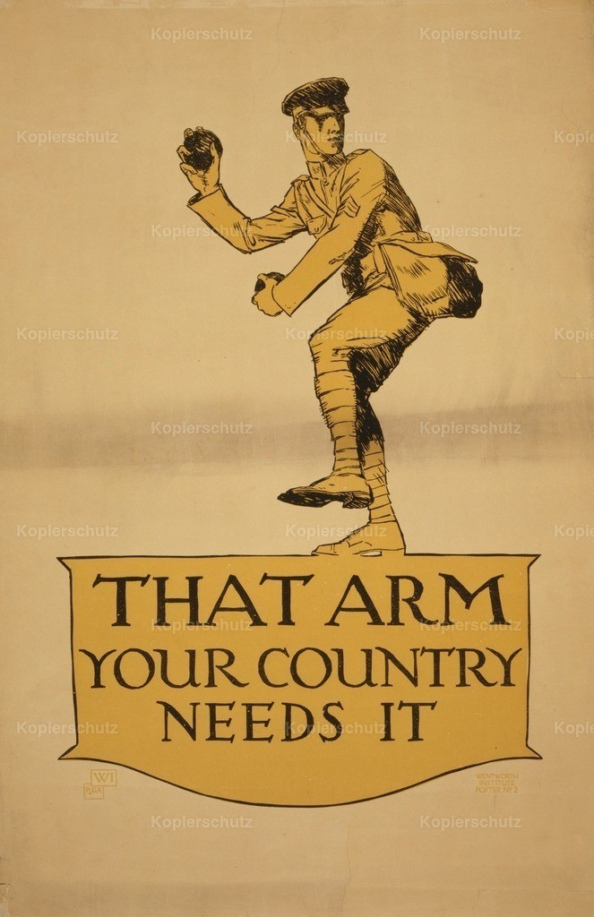 Preissig_ Vojt_ch (1873-1944) - WWI Recruitment Poster 1918 - That Arm Your Country Needs It