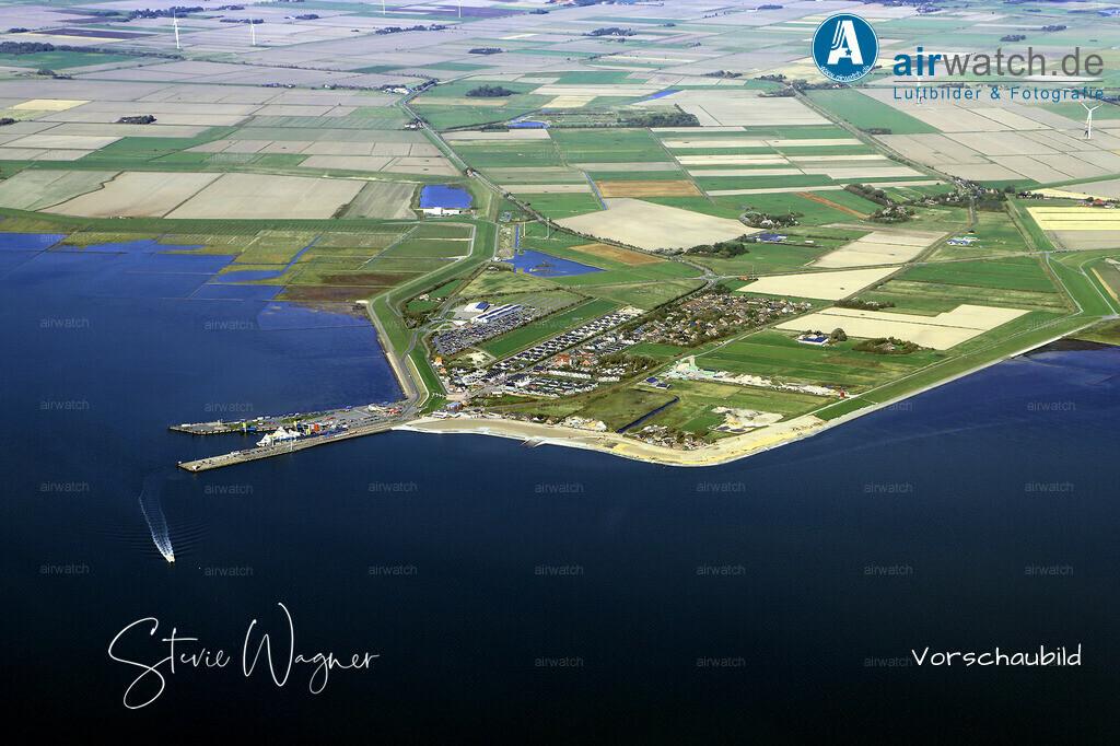 Luftbild, Nordsee, Dagebuell Mole, Bahnhof, Fähranleger, Schiffsanleger | Nordsee, Dagebuell Mole, Luftbild, Luftaufnahme, aerophoto, Luftbildfotografie, Luftbilder • max. 6240 x 4160 pix