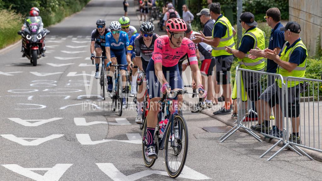 Stuttgart, Germany - June 19, 2021: Deutsche Straßenradmeisterschaften 2021, Straßenrennen, Männer   Stuttgart, Germany - June 19, 2021: Deutsche Straßenradmeisterschaften 2021, Straßenrennen, Männer, Jonas Rutsch (EF EDUCATION - NIPPO), Photo: videomundum