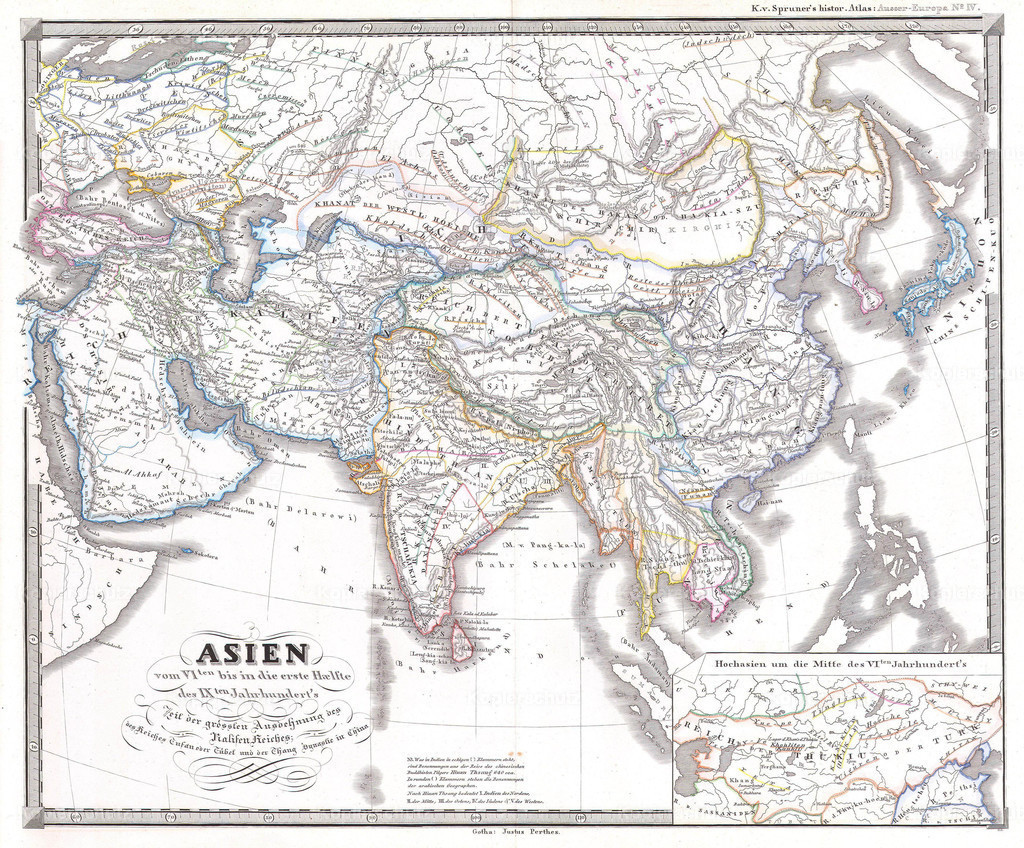 1855_Spruner_Map_of_Asia_During_Chang_Dynasty_China_(_Tufan_Tibet_)