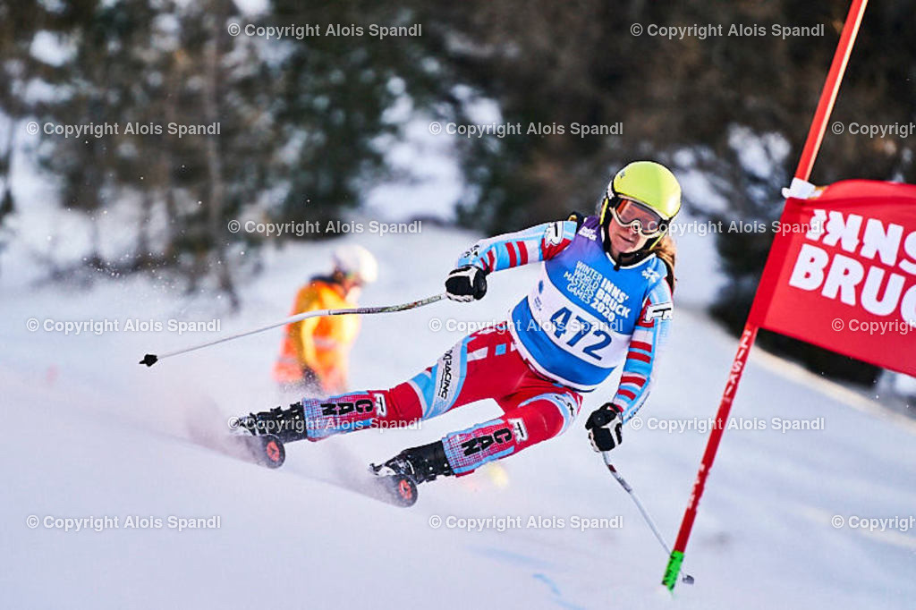 ALS6043_WWMG_GS-II_C | (C) FotoLois.com, Alois Spandl, WinterWorldMastersGames 2020 Innsbruck, Giant Slalom-II Gruppe C Damen, Patscherkofel Olympiaabfahrt, Mi 15. Jänner 2020.