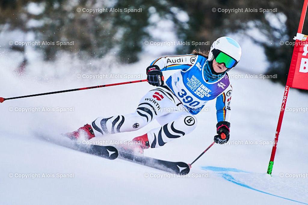 ALS5631_WWMG_GS-II_C   (C) FotoLois.com, Alois Spandl, WinterWorldMastersGames 2020 Innsbruck, Giant Slalom-II Gruppe C Damen, Patscherkofel Olympiaabfahrt, Mi 15. Jänner 2020.