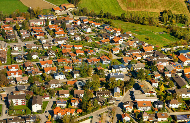 luftbild-teisendorf-bruno-kapeller-45 | Luftaufnahme von Teisendorf im Herbst 2019