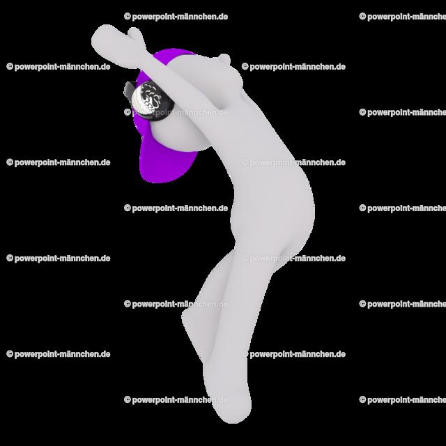 ballet dancer with headphones | Quelle: https://3dman.eu   Jetzt 250 Bilder kostenlos sichern