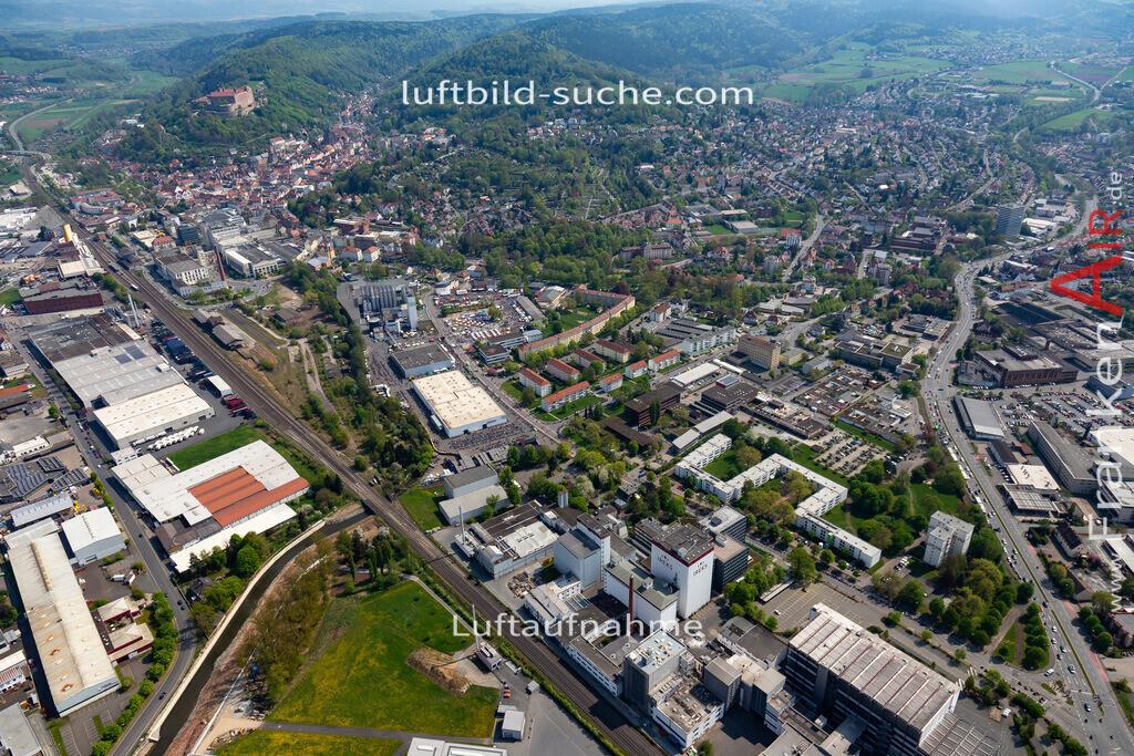 kulmbach-18-62 | aktuelles Luftbild von  Kulmbach - Luftaufnahme wurde 2018 von https://frankenair.de mittels Flugzeug (keine Drohne) erstellt.