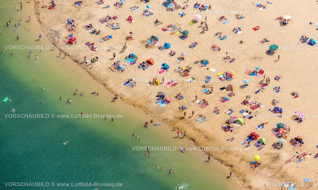 Haltern13081753 | Silbersee II aus der Luft, Sandstrand und türkisfarbenes Wasser, Luftbild von Haltern am See