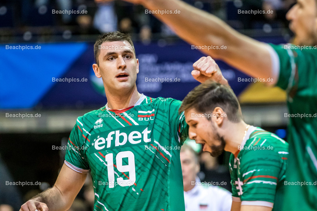 2020-00057079-CEV-European-Olympic-Qualification-Tokyo-2020 | Jubel SOKOLOV Tsvetan #19 (Opposite - BUL); 06.01.2020; Berlin, ; Foto: Gerold Rebsch - www.beachpics.de