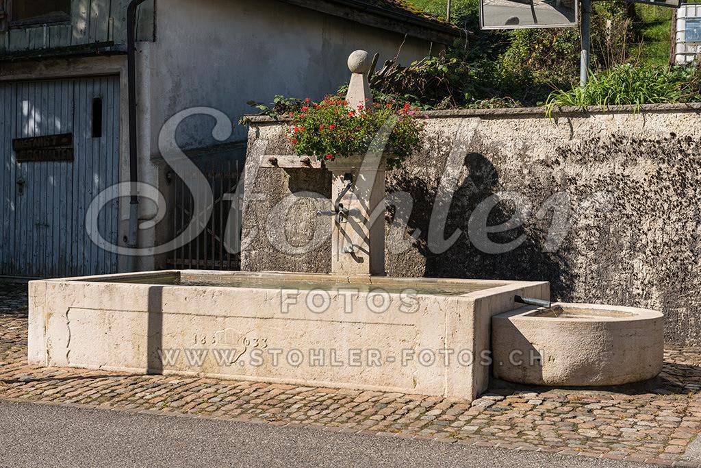 Dorfbrunnen, Bärschwil (SO) | Dorfbrunnen von 1833 bei der Post, Bärschwil im Kanton Solothurn.
