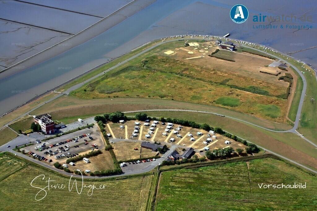 Luftbild Husum, Nordsee, Dockkoog, Badestelle, Campingplatz | Nordsee, Husum, Dockkoog, Badestelle, Campingplatz • max. 4272 x 2848 pix.