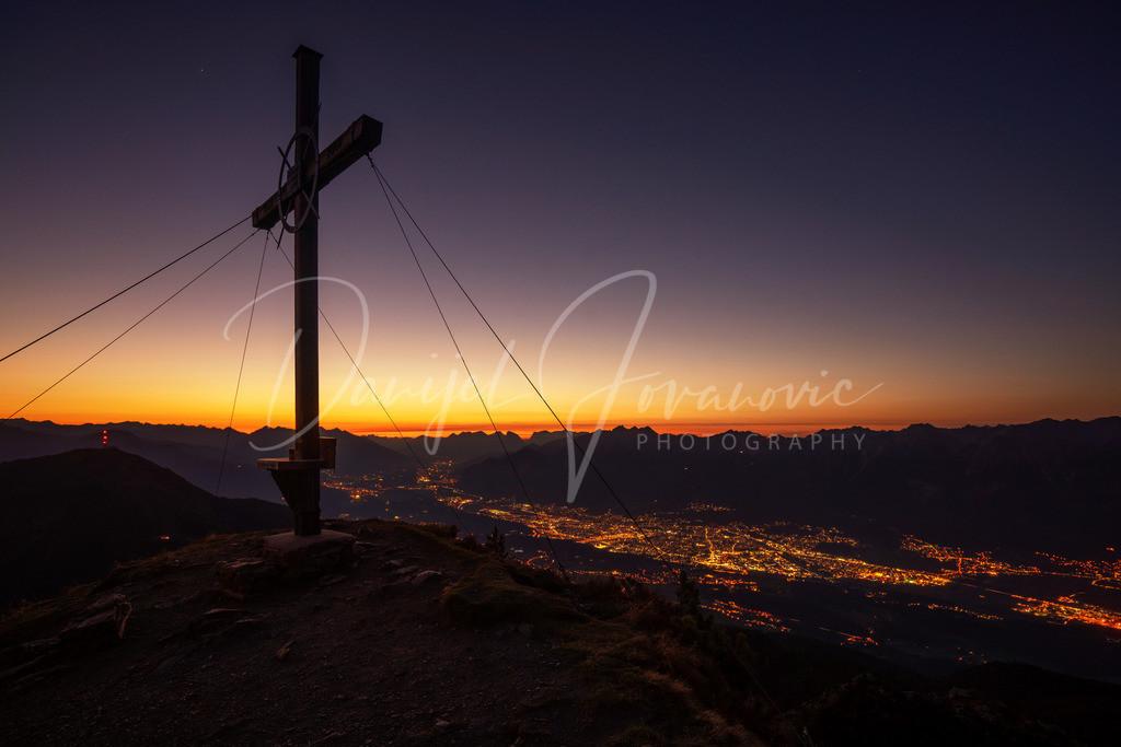 Viggarspitze | Abendstimmung auf der Viggarspitze mit Blick auf Innsbruck