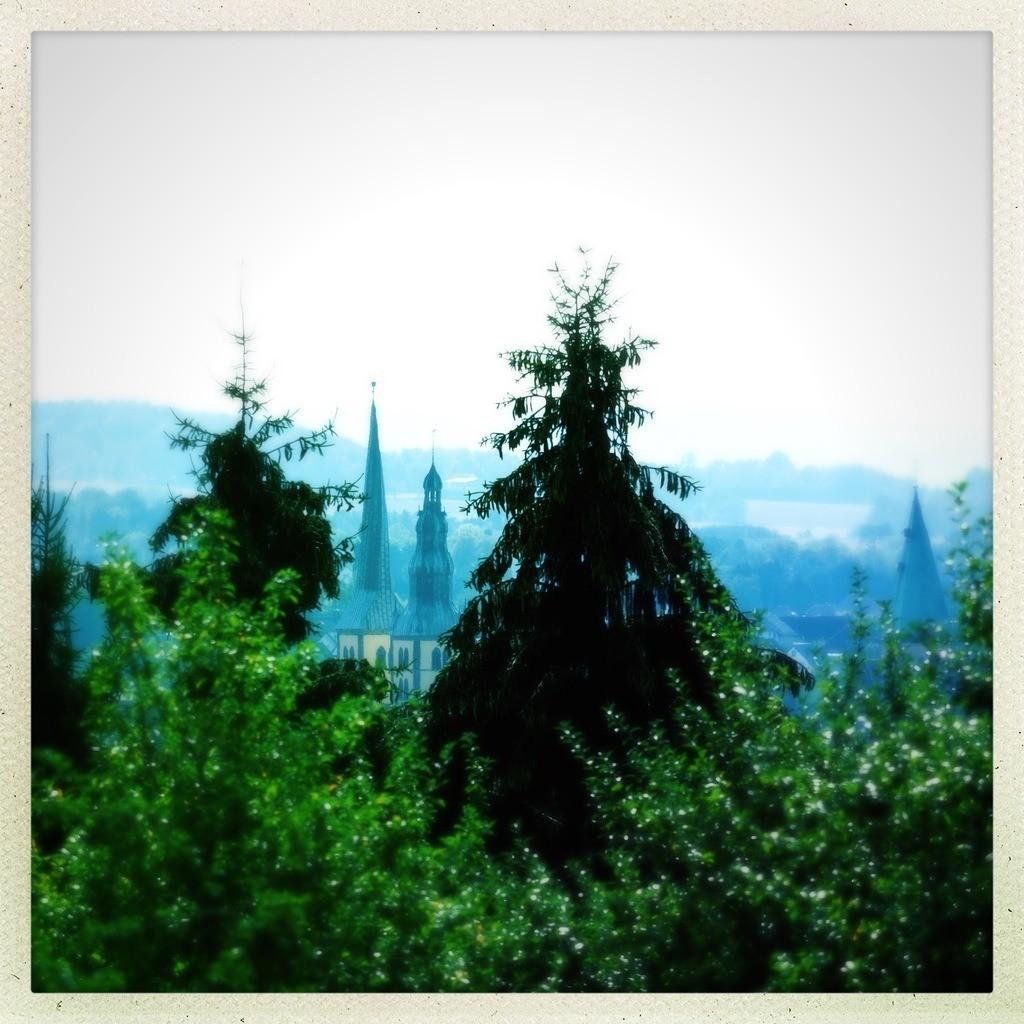St.Nicolai vom Staffpark | Vom Staffpark aus hat man diese Sicht auf das Lemgoer Wahrzeichen. Dieses Bild eignet sich für eine quadratische Leinwand