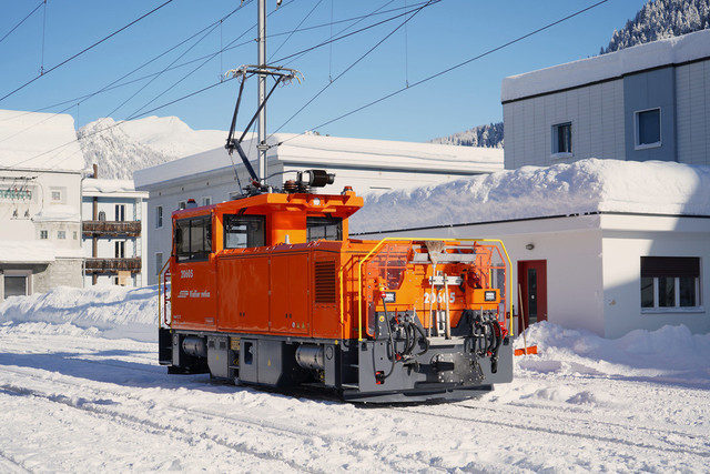 RhB Geaf 2/2 20605 | Die Geaf 2/2 ist die neue zweiachsige bimodale elektrische Rangierlok der Rhätischen Bahn.
