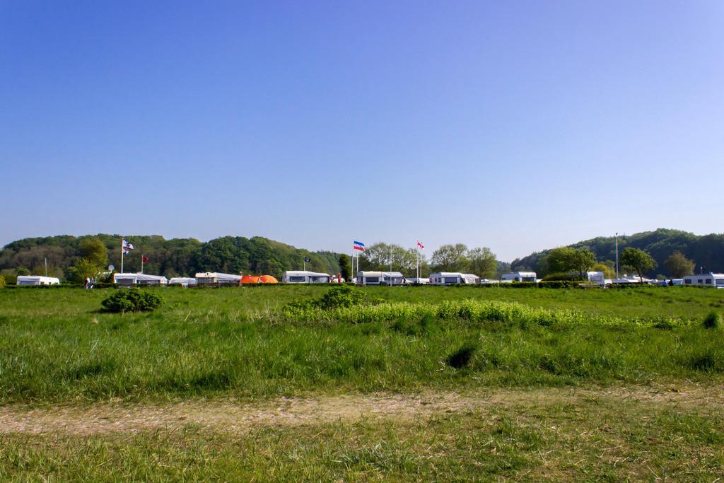 Strand in Langballigau | Blick auf den Campingplatz in Langballigau