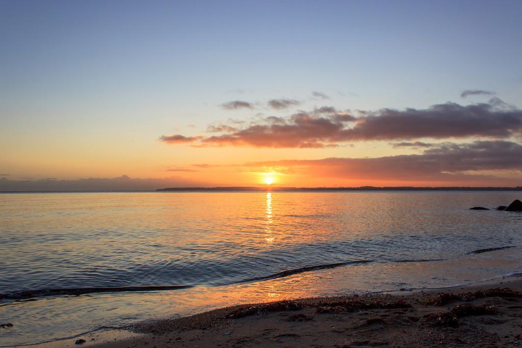 Strand in Kleinwaabs | Sonnenaufgang in Kleinwaabs