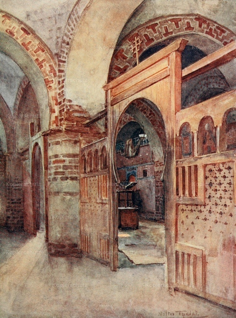 Tyndale_ W. (1855-1943) - Below the Cataracts 1907 - Coptic church near Abydos