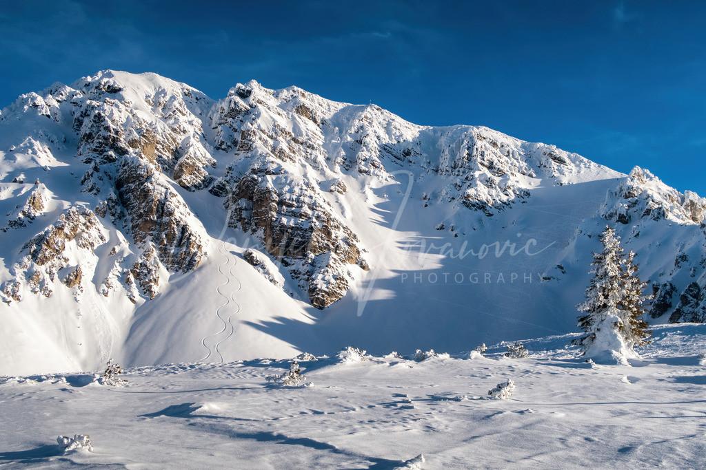 Nockspitze | Blick auf die tief verschneite Nockspitze