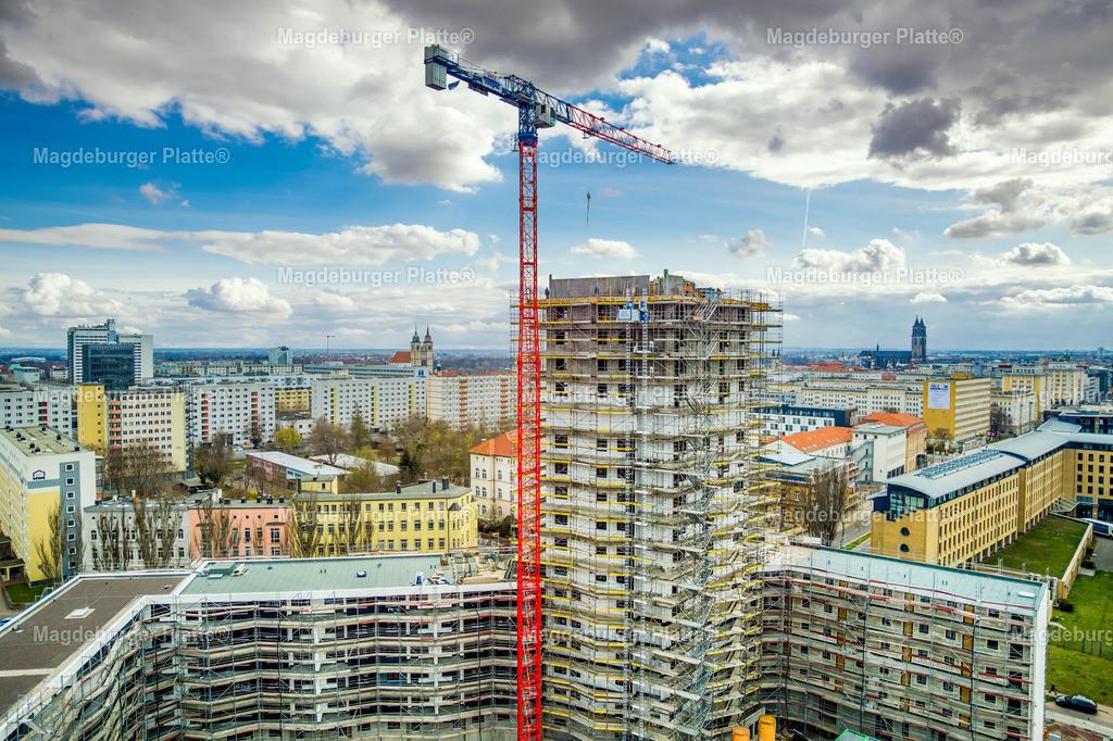 Luisenturm-Himmel-12 | Luftbilder aus der Vogelperspektive von MAGDEBURG ... mit Drohne oder von oben fotografiert für die Bilddatenbank der Luftbildfotografie von Sachsen - Anhalt.