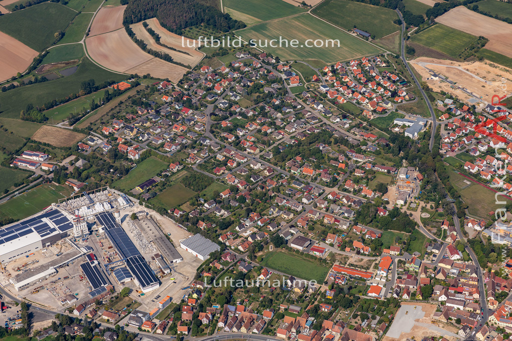 uehlfeld-19-576 | aktuelles Luftbild von Uehlfeld   - Luftaufnahme wurde 2019 von https://frankenair.de mittels Flugzeug (keine Drohne) erstellt.