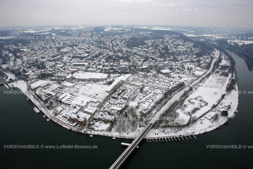 KT10011170 | Schnee,  Kettwig, Essen, Ruhrgebiet, Nordrhein-Westfalen, Deutschland, Europa, Foto: Luftbild Hans Blossey, Copyright: hans@blossey.eu, 06.01.2010, E 006° 56' 30.53
